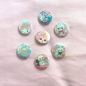 7 pastel pins